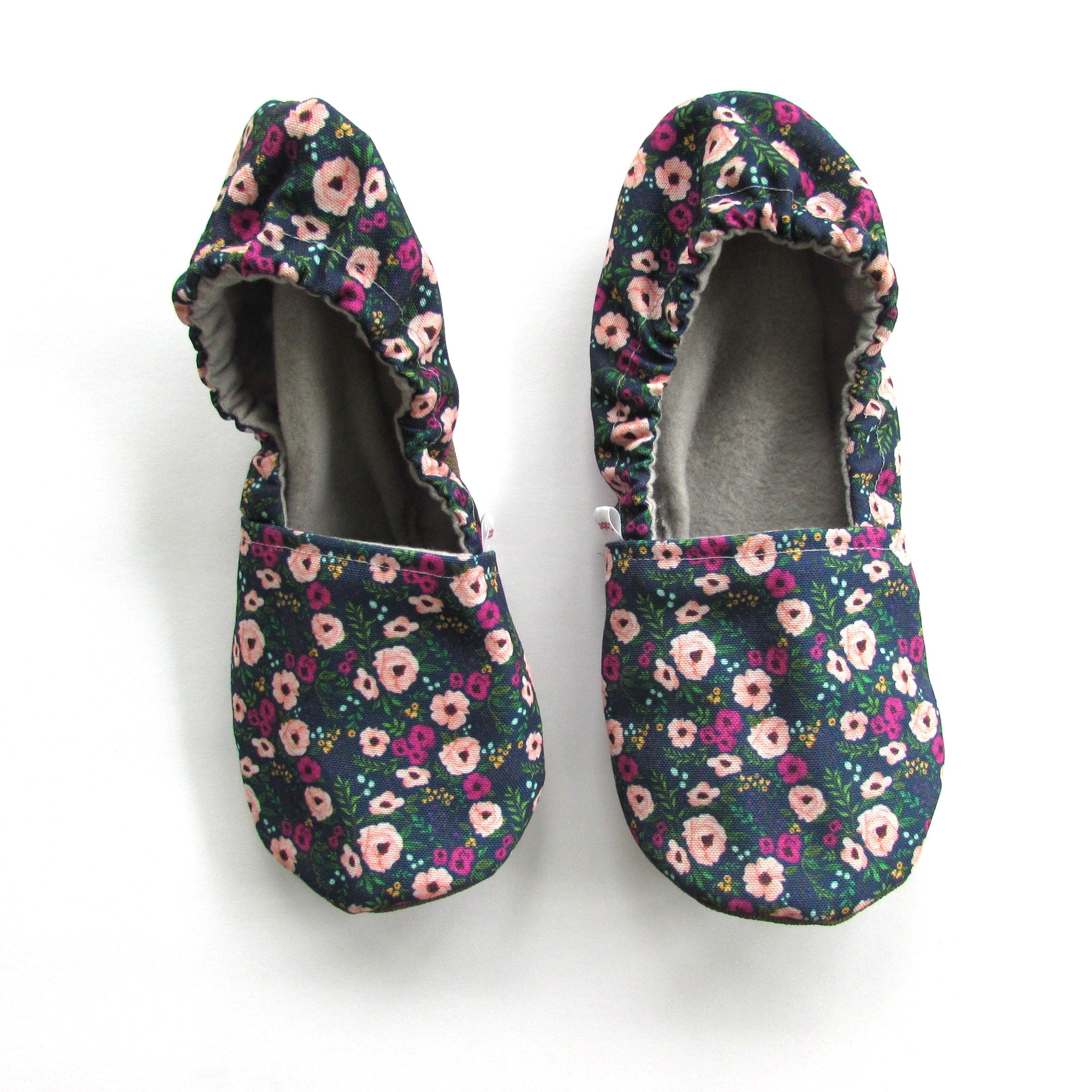 Blush Flowers Eco-Canvas Slippers - Mommy and Me - Baby Shower Gift