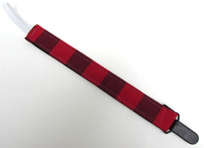 Buffalo Plaid Pacifier Clip - Cabooties - 1