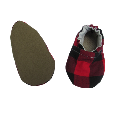 Buffalo Plaid Cotton Baby Boy Shoes