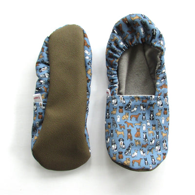 Blue Dog Eco-Canvas Adult Slippers - Mommy and Me - Baby Shower Gift