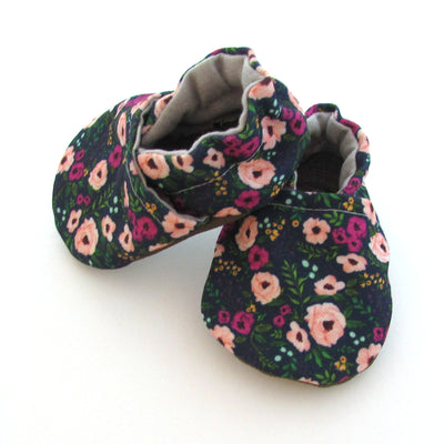 Blush Flowers Eco-canvas baby shoes - unique baby shower gift