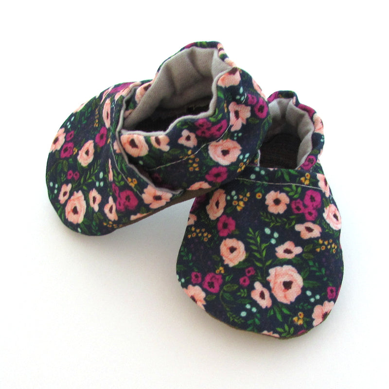 Blush Flowers Eco-Canvas Baby Shoes