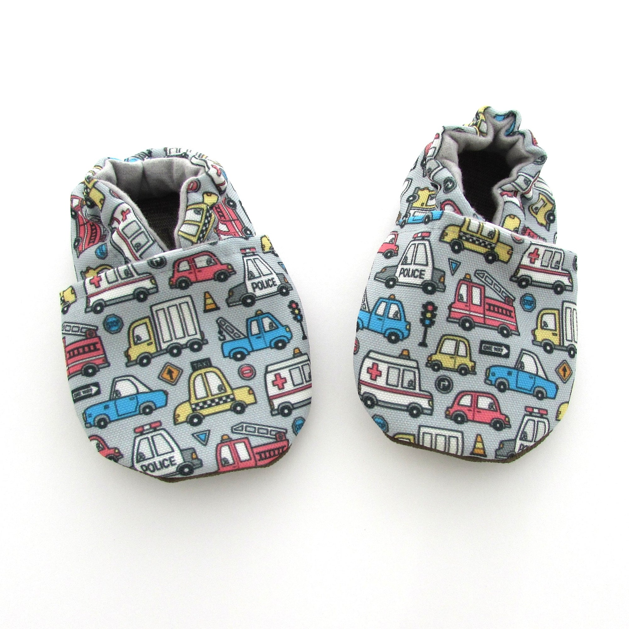 Vehicles Eco-Canvas Baby Shoes