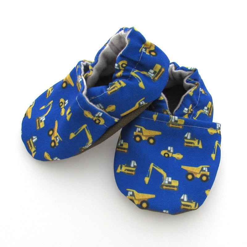 Construction Trucks Eco-Canvas Baby Shoes