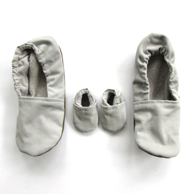 Grey Brushed Denim Mommy and Me Set