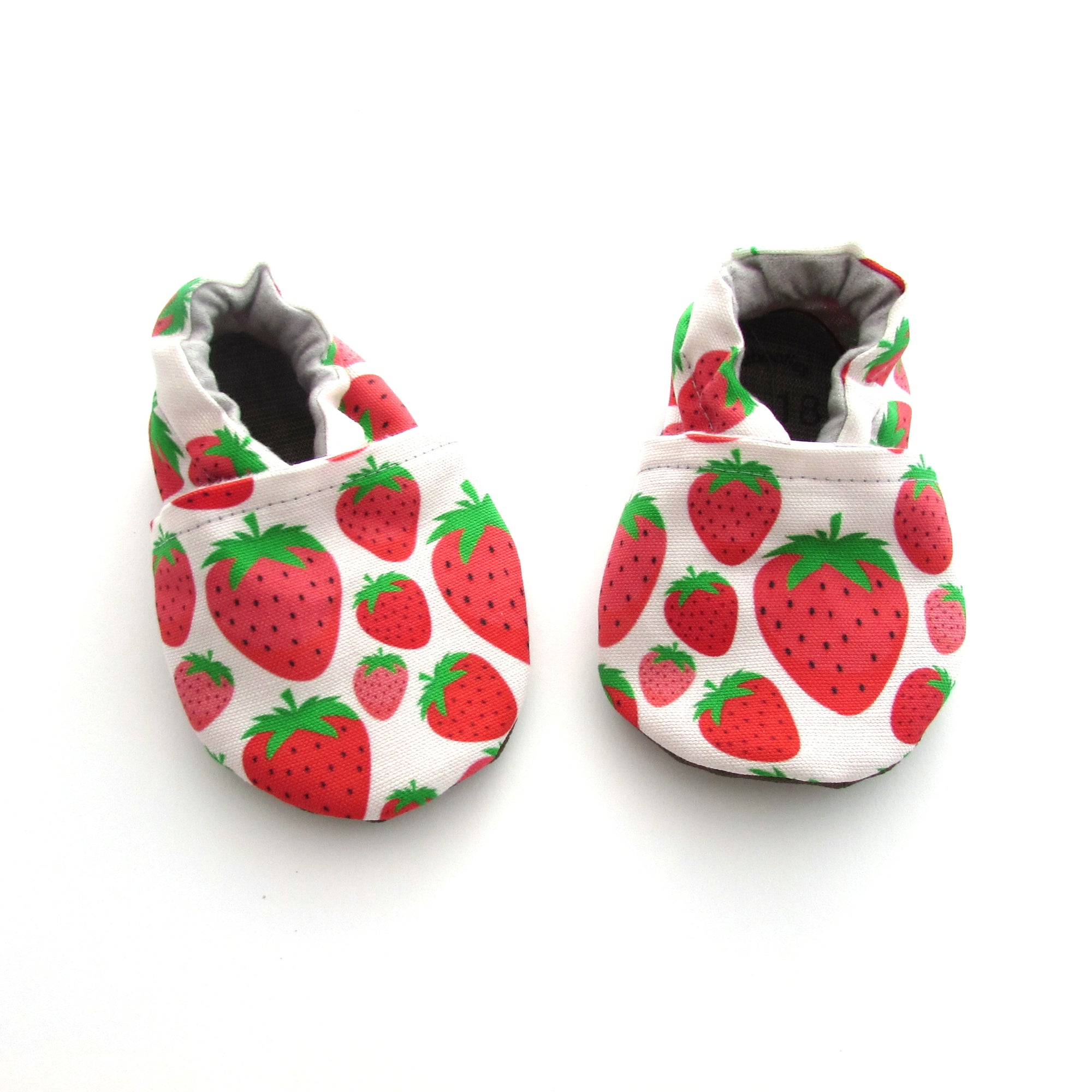 Strawberries Eco-Canvas Baby Shoes