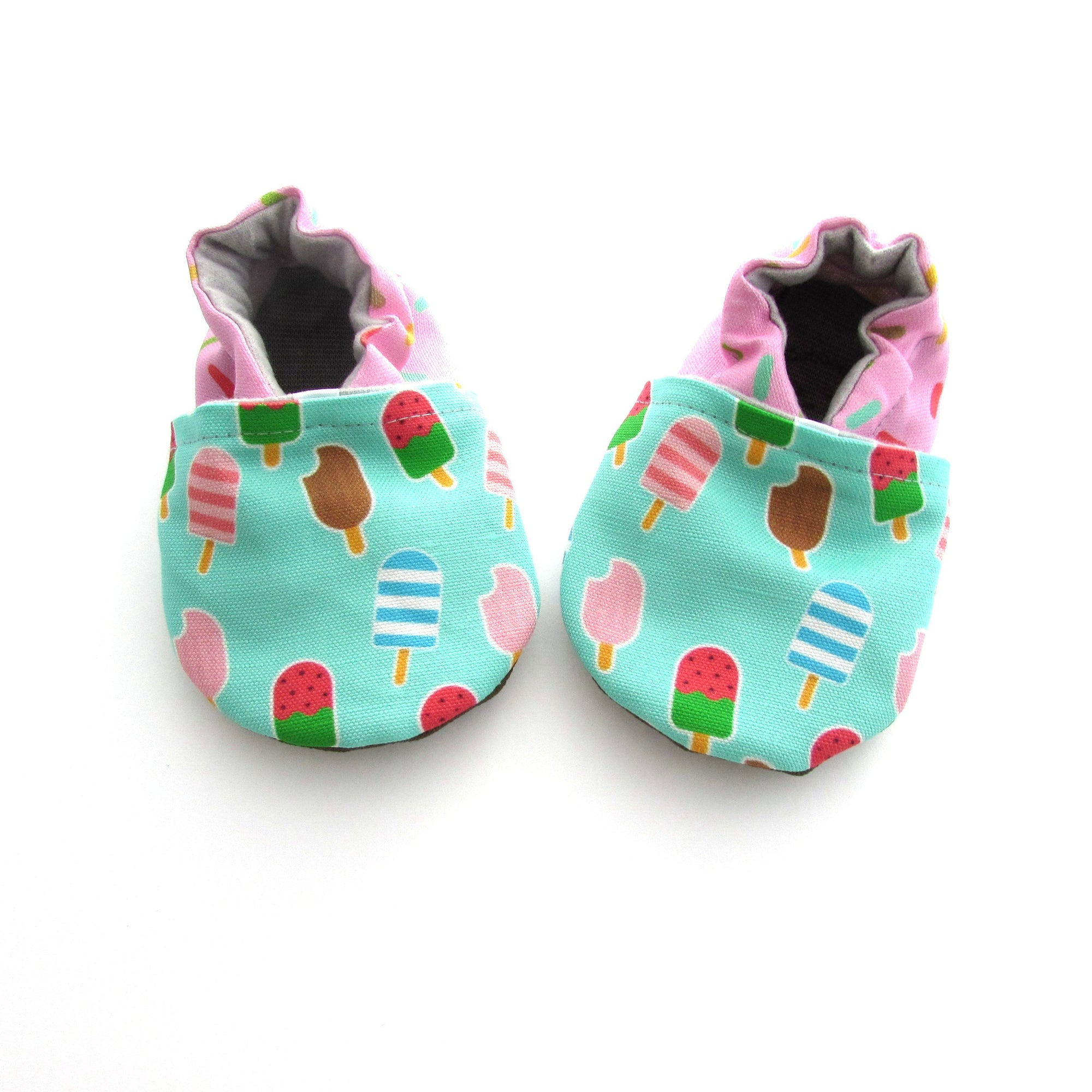 Ice Cream Treats Eco-Canvas Baby Shoes