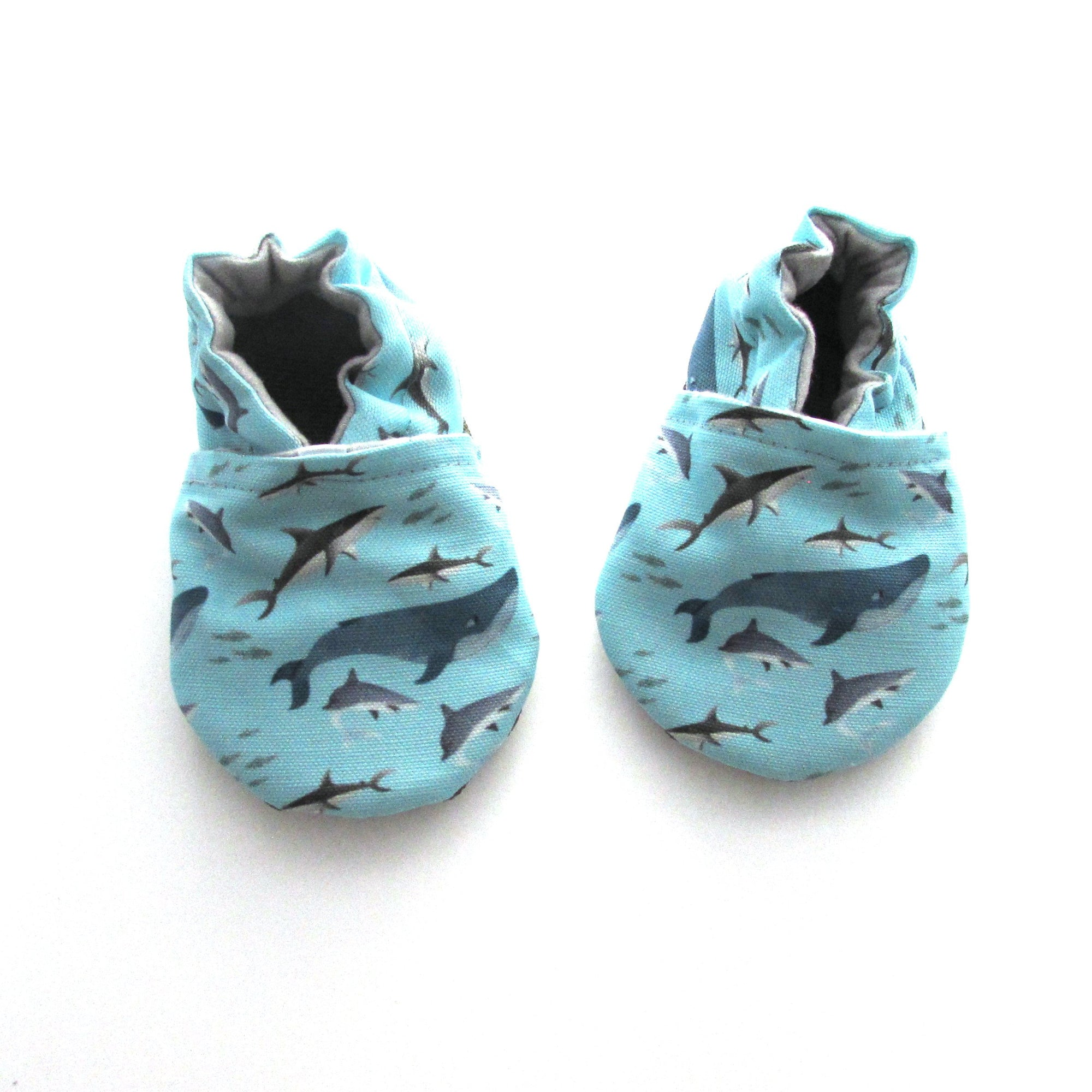 Sharks Eco-Canvas Baby Shoes
