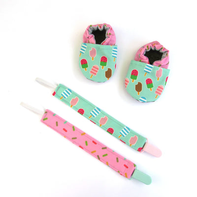 Ice Cream Treat Cabooties and Universal Clip Gift Set
