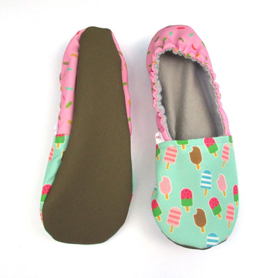 Ice Cream Treats Eco Canvas Women's Slippers Soft Rubber Soles