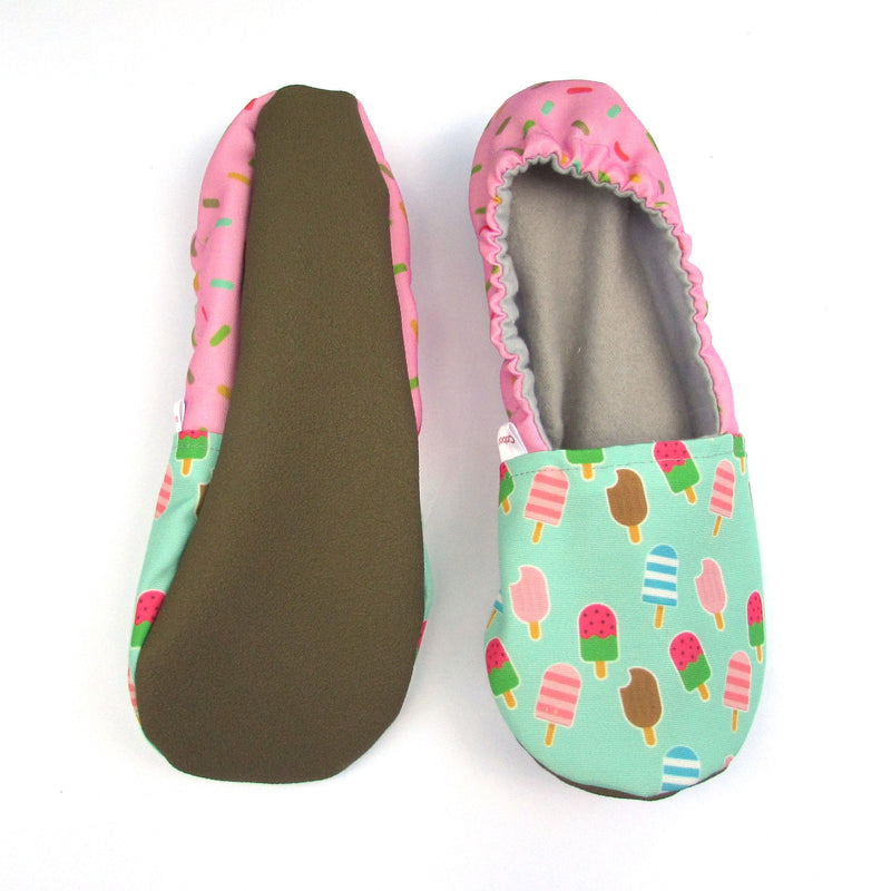 Ice Cream Treats Eco Canvas Women's Slippers
