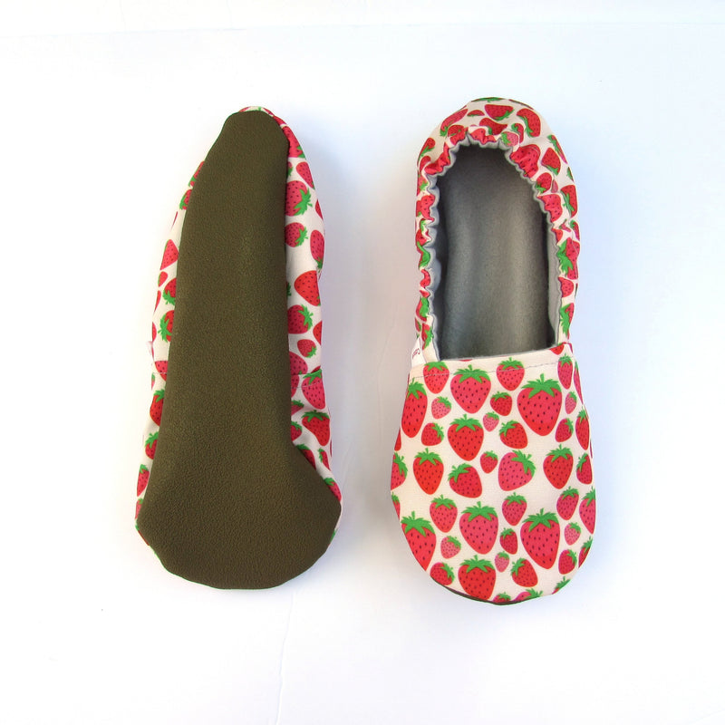 Strawberry Eco Canvas Women's Slippers
