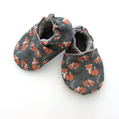 Foxes Eco Canvas Cabooties Baby Shoes side view