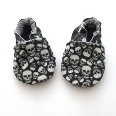 Skulls and Scribbles Cabooties Baby Shoes