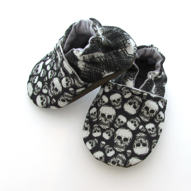 Skulls Eco Canvas Cabooties Baby Shoes