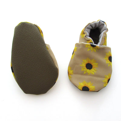 Sunflower Eco-Canvas Baby Shoes