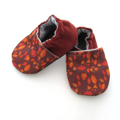 Autumn Leaves Cabooties Baby and Toddler Soft Sole Shoes side view