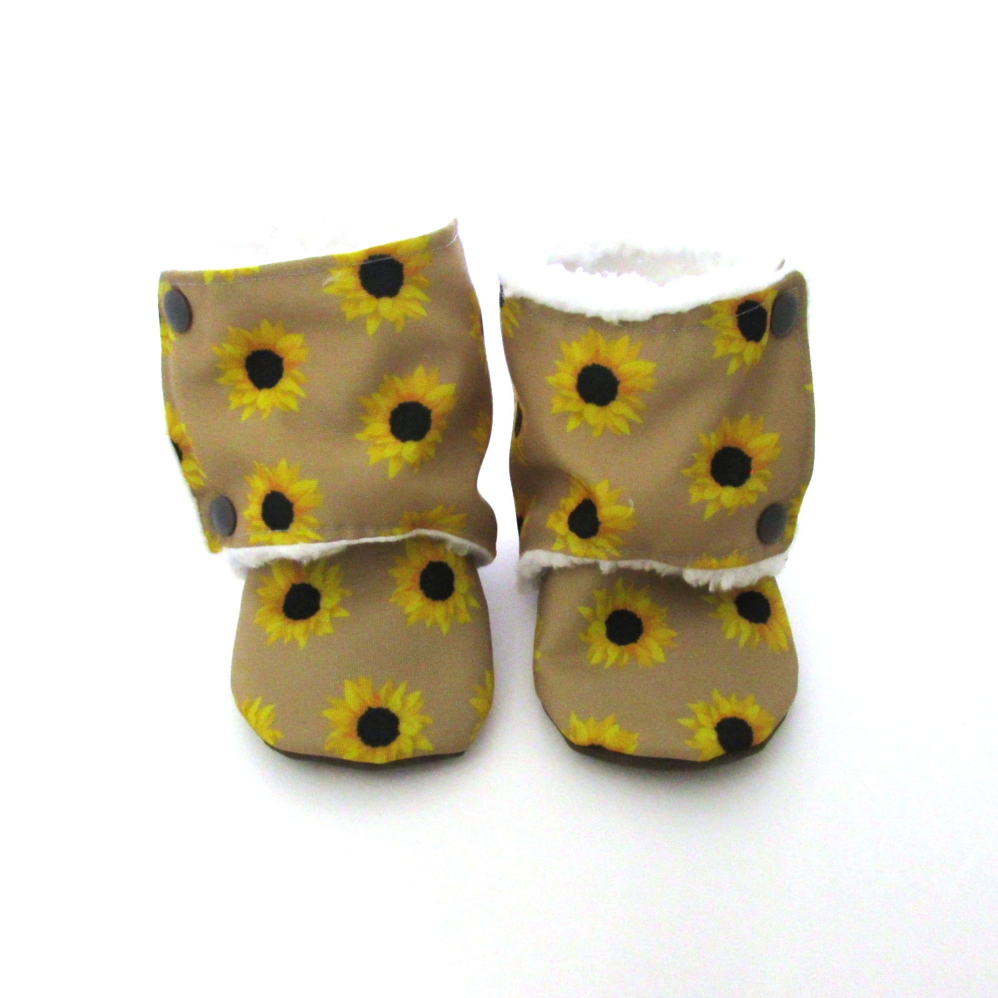 Sunflower Eco-Canvas Baby Boots