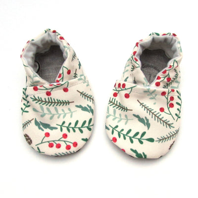 Winter Foliage Eco-Canvas Washable Soft Sole Baby and Toddler Shoes
