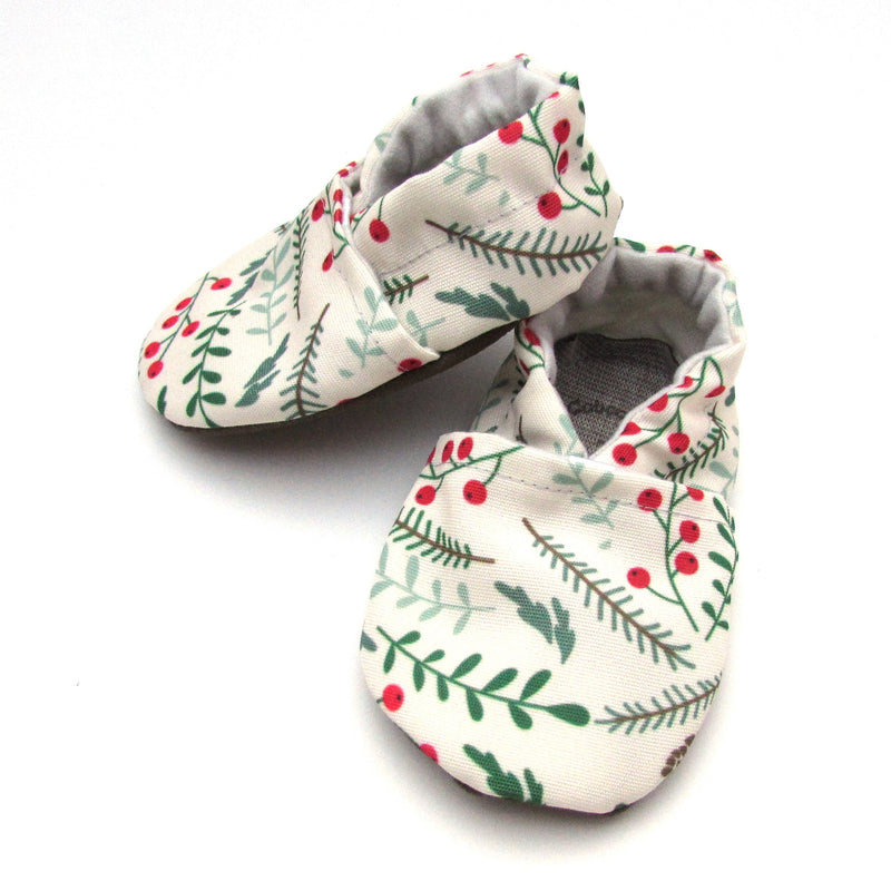 Winter Foliage Eco-Canvas Baby Shoes