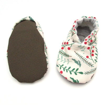 Winter Foliage Eco-Canvas Washable Soft Sole Baby and Toddler Shoes Rubber Soles