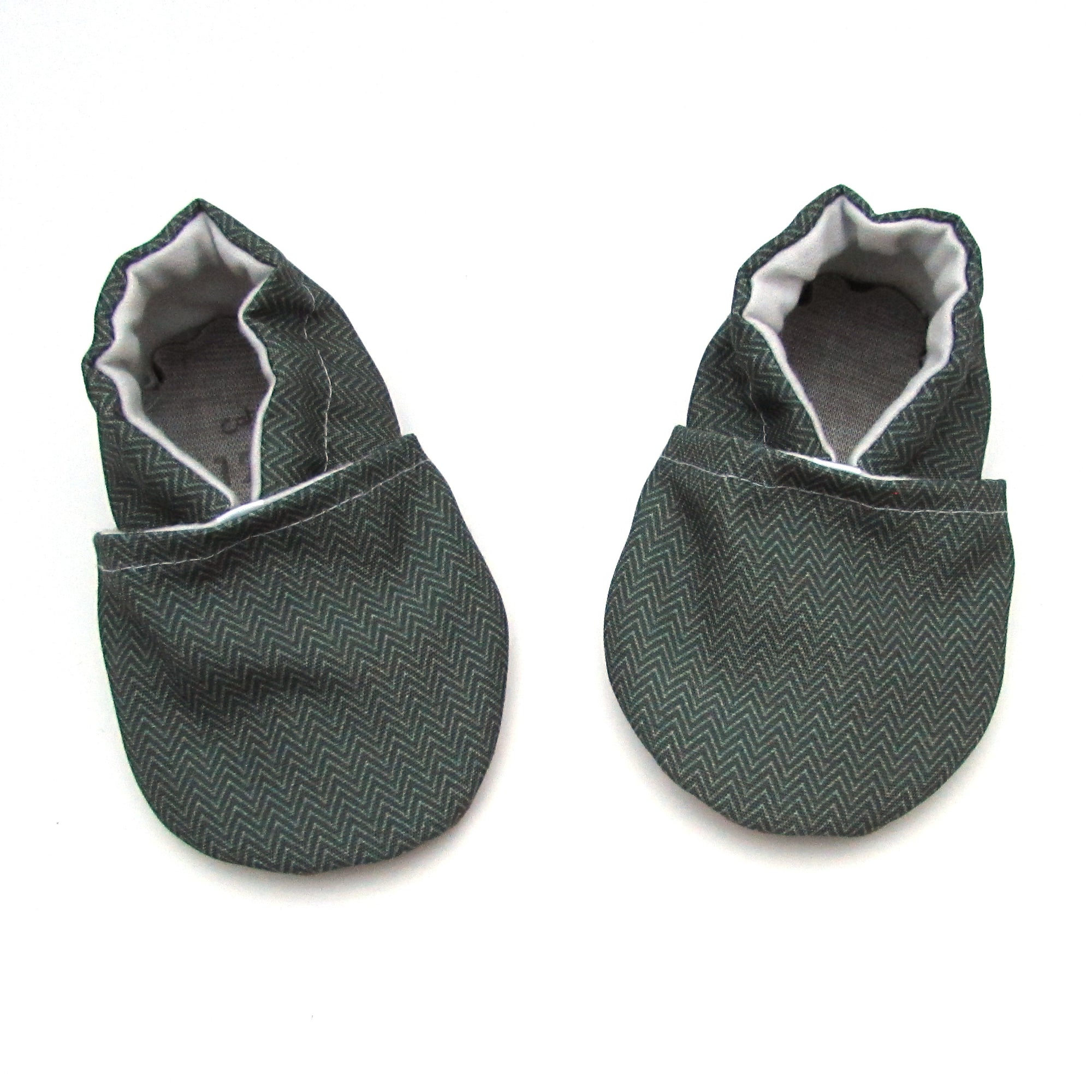 Herringbone Eco-Canvas Baby Shoes