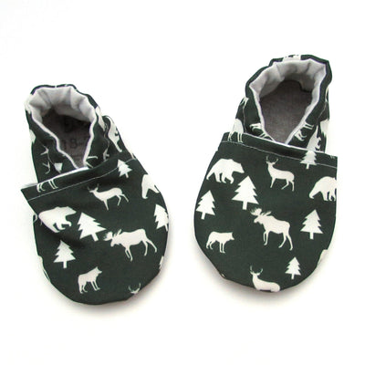 Winter Woods Eco-Canvas Baby Shoes