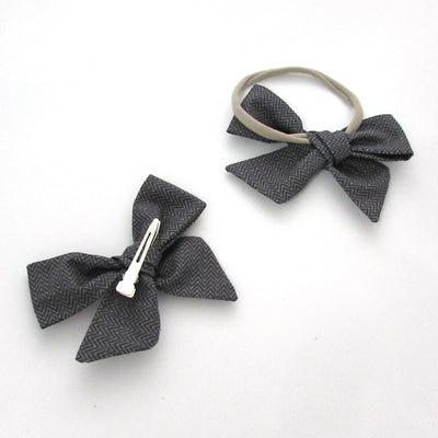 Herringbone Hair Bow