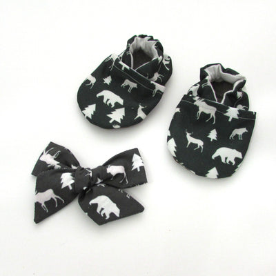 Winter Woods Hair Bow