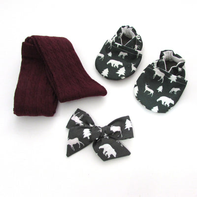Winter Woods Hair Bow - Last Chance