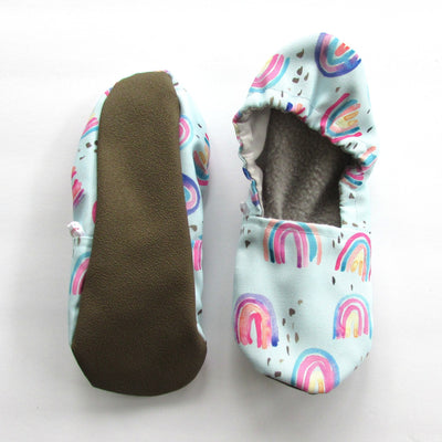 Rainbow Eco-Canvas Adult Slippers - Mommy and Me - Baby Shower Gift