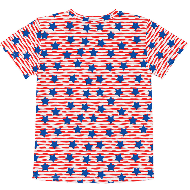 Stars and Stripes Kids crew neck t-shirt