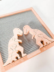 Wooden Mama Dino Toddler Puzzle and Nursery Decor