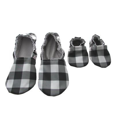 Black and White Buffalo Check Mommy and Me Set