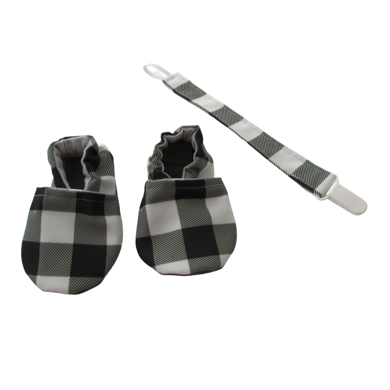 buffalo check pacifier leash