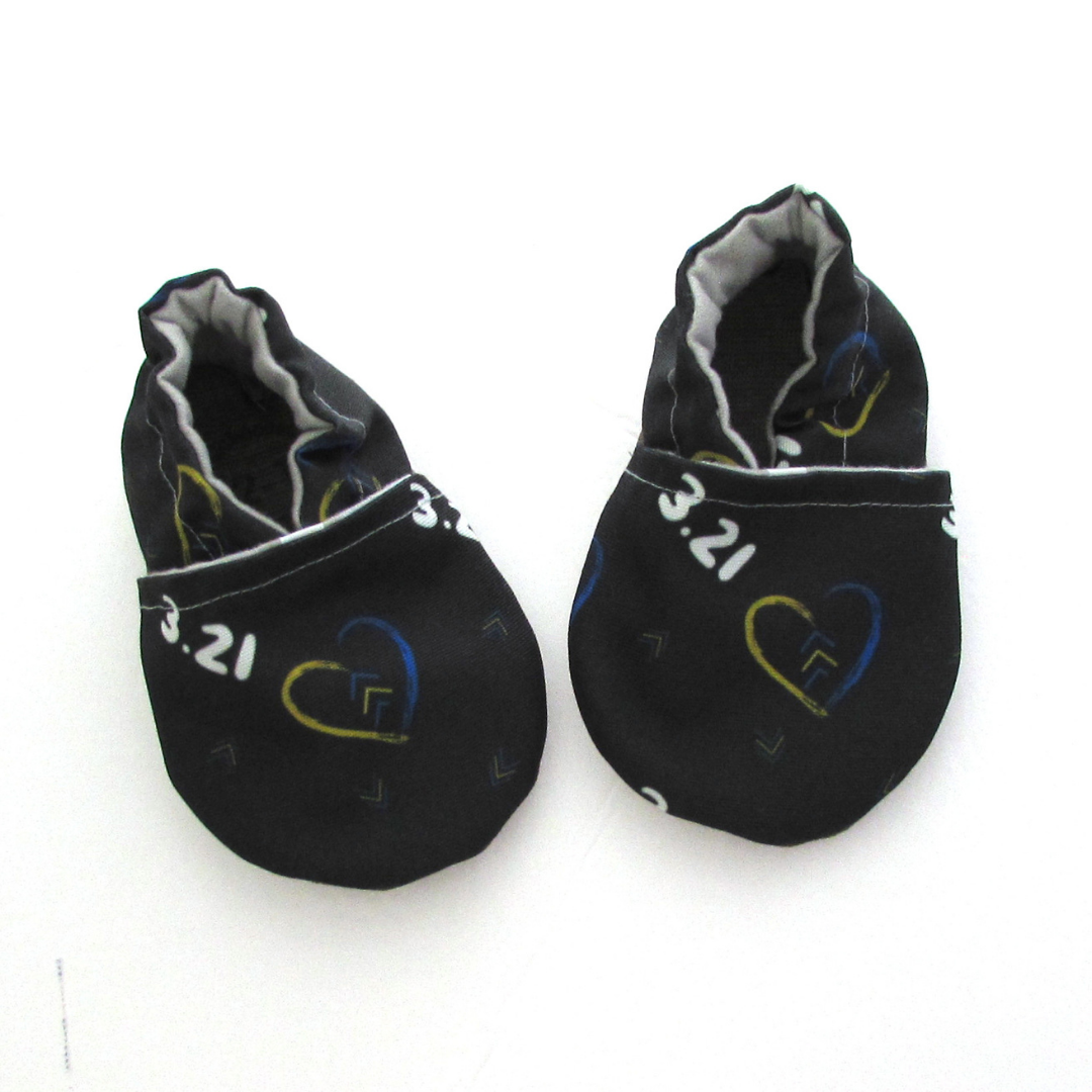 3.21 Recycled Canvas Baby Shoes for World Down Syndrome Day - Last Chance