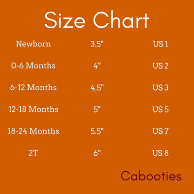 baby shoes size chart