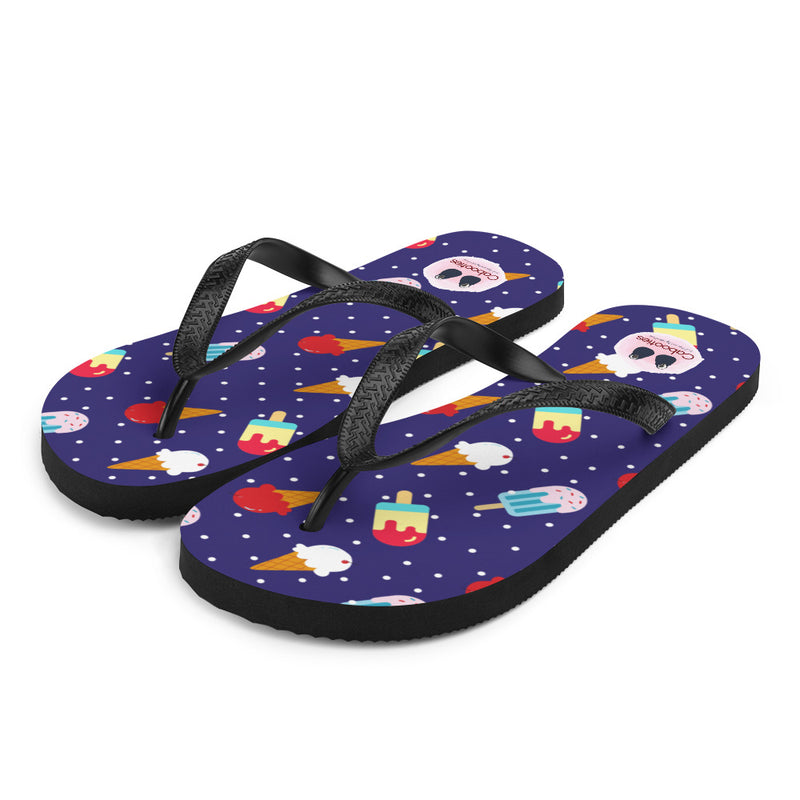 Red White and Blue Ice Cream Flip-Flops