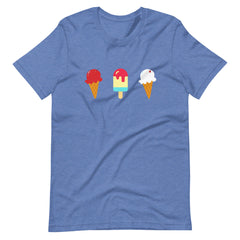 Red White and Blue Ice Cream Tee