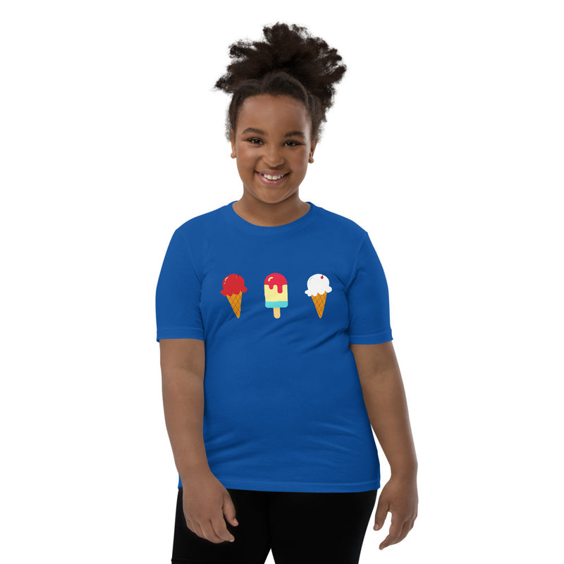 Red White and Blue Ice Cream Youth Short Sleeve T-Shirt
