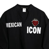 "Camisera cropped ""Mexican Icon"" negra"