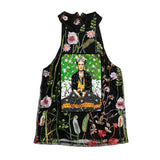 Top halter con flores Frida