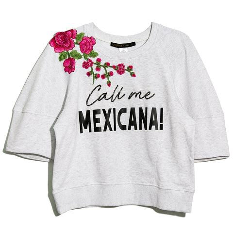 Crop Sudadera Call Me Mexicana
