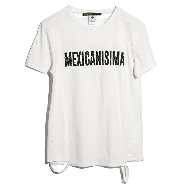 "Ripped Tee Blanca ""Mexicanisima"""