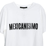 "Ripped tee blanca ""Mexicanísimo"" bordada"