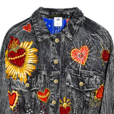 Cropped denim jacket Sagrado Corazón