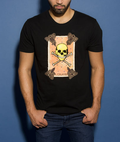 Playera la Calavera Bordada