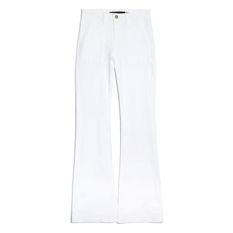 Flared jeans blancos