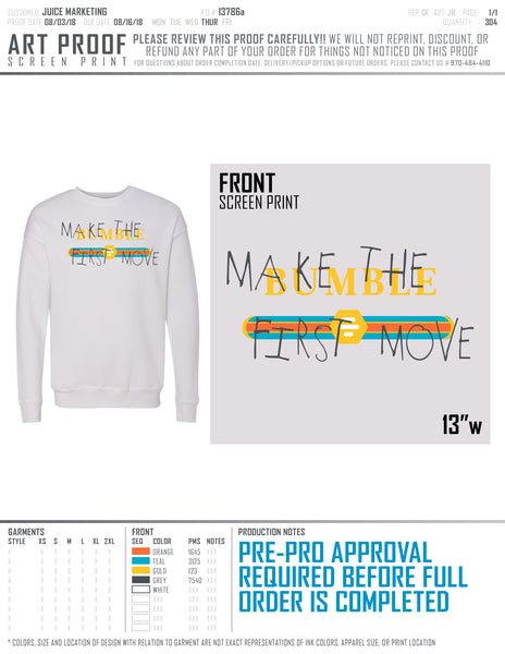 Make the First Move Sweatshirts - Gucci design
