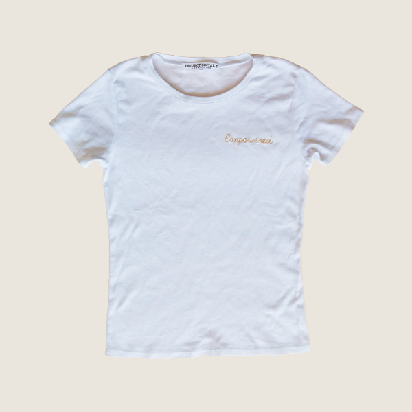 Empowered Embroidered Tee
